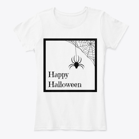 Happy Halloween From Shs White T-Shirt Front
