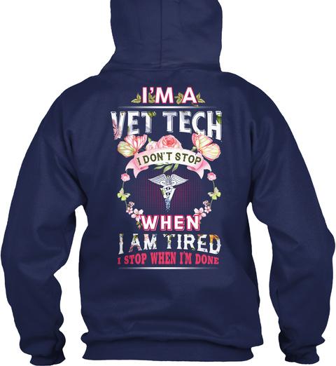 Awesome Vet Tech Navy T-Shirt Back