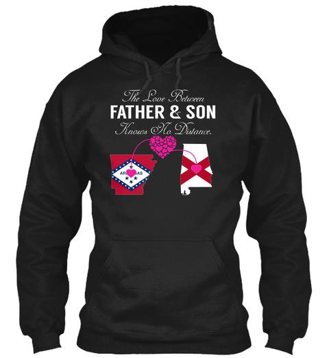 Father Son   Arkansas Alabama Black T-Shirt Front