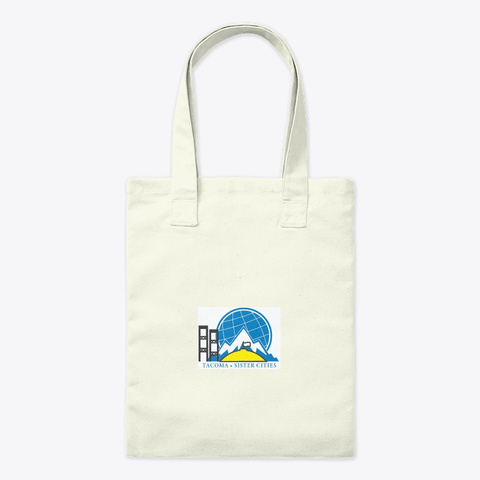 Tacoma Sister Cities  Natural Tote Bag Front