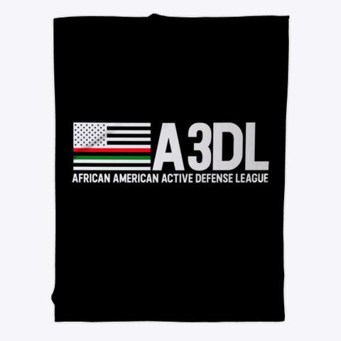 A3 Dl Black Blanket Black T-Shirt Front