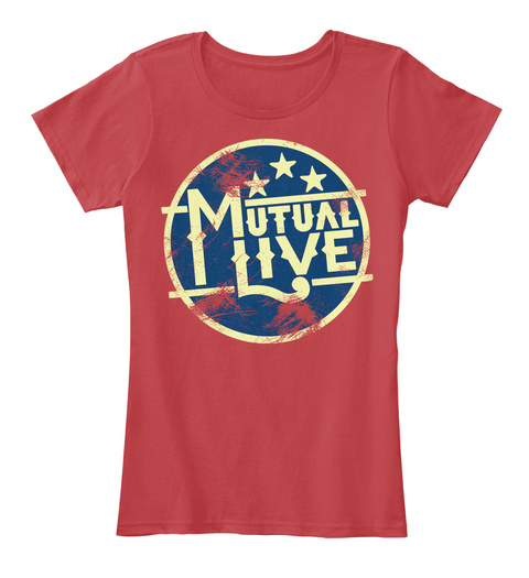 Mutual Live Classic Red Women's T-Shirt Front