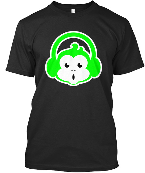 Green Special Black T-Shirt Front