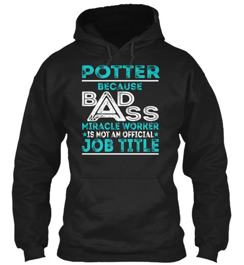 Potter   Badass Black T-Shirt Front