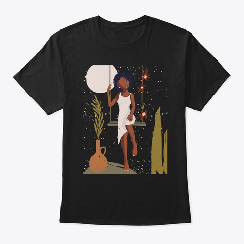 Proud Of My Black Skin   Melanin Queen Black T-Shirt Front
