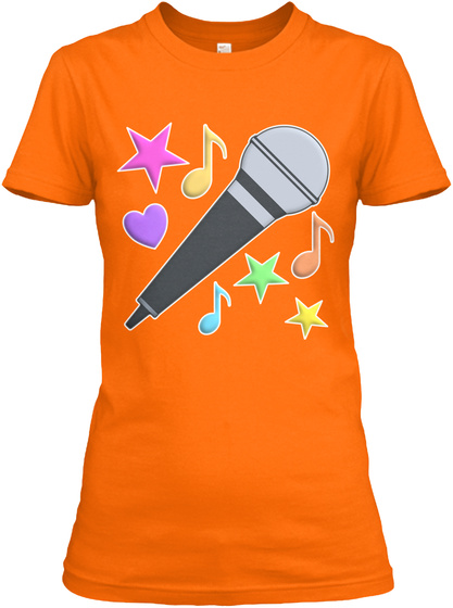 The World Is Better Singing Orange T-Shirt Front