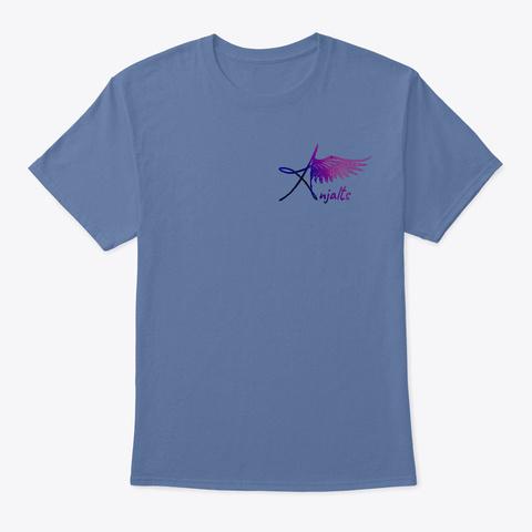 Logo Shirt Gray Denim Blue T-Shirt Front