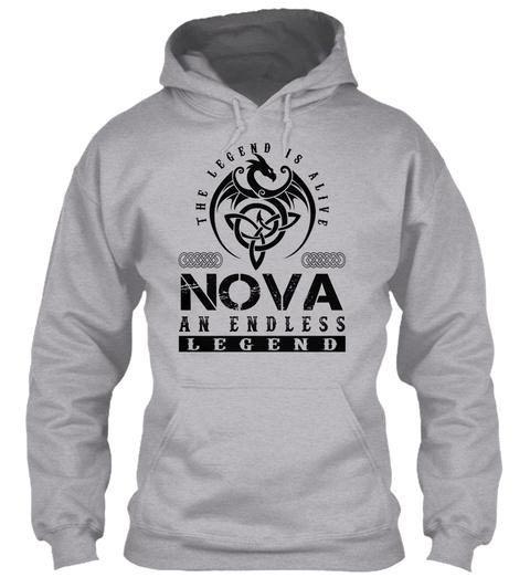 Nova   Legends Alive Sport Grey T-Shirt Front