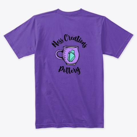 Crystal Pottery Mug Pattern Purple Rush T-Shirt Back