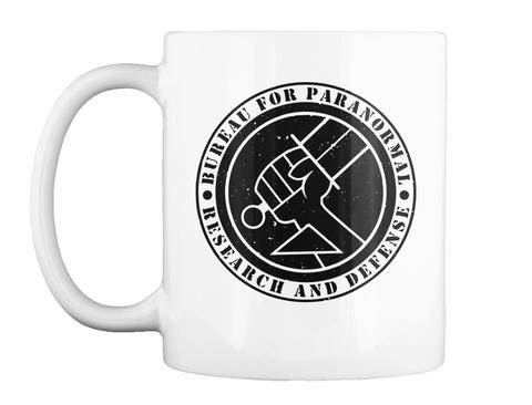 Bureau Paranormal Research Defense Mug White T-Shirt Front