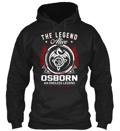 The Legend Alive Osborn An Endless Legend Black T-Shirt Front