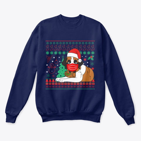 Ugly Christmas Sweater! Navy  T-Shirt Front