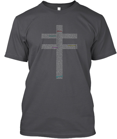 Todays Cross   Frightened Rabbit Charcoal T-Shirt Front