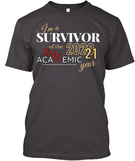 Survivor 2020 21 School Year Heathered Charcoal  T-Shirt Front