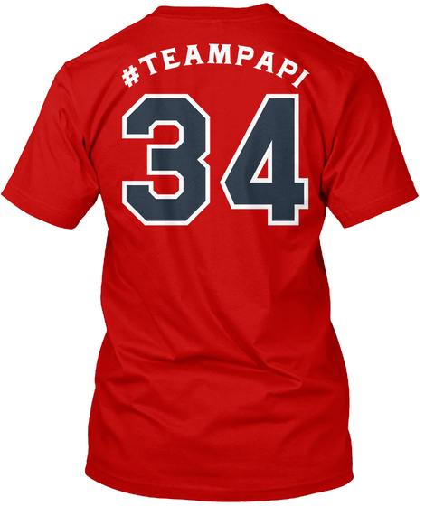 #Teampapi 34 Classic Red T-Shirt Back