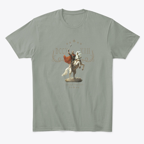 Charles Martel Grey T-Shirt Front