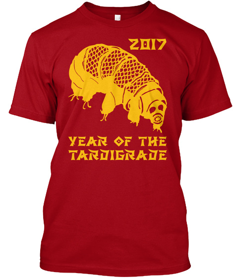 2017 Year Of Tardigrade Deep Red T-Shirt Front