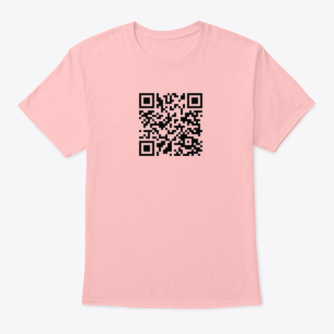 Rick Roll Pale Pink T-Shirt Front