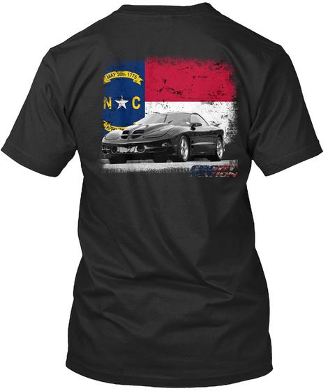 May 20th 1775 N C Black T-Shirt Back