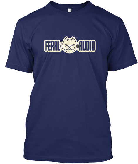 Feral Audio Navy T-Shirt Front
