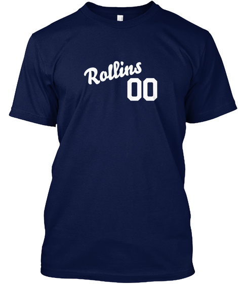 Rollins 00 Navy T-Shirt Front