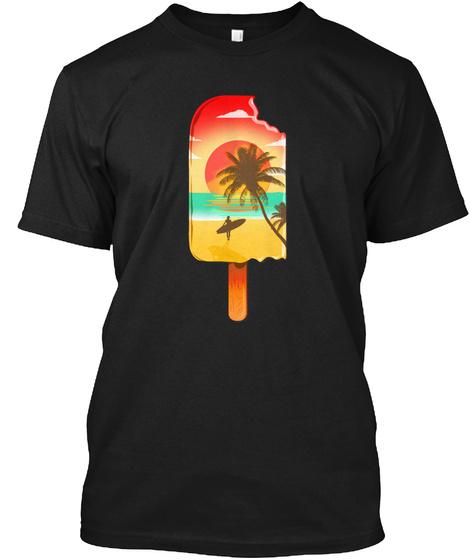 Ibiza Beach Black T-Shirt Front