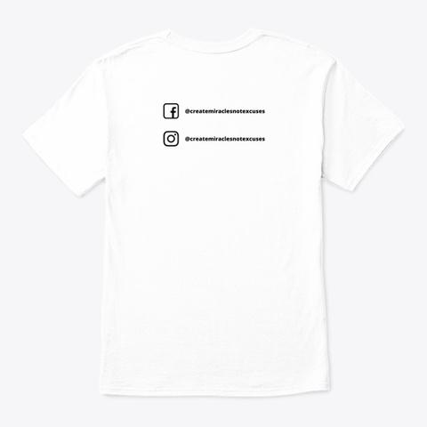 Sober Af (Check Off)  White T-Shirt Back