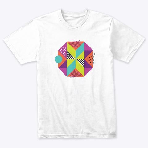 Modern Maker Heather White T-Shirt Front