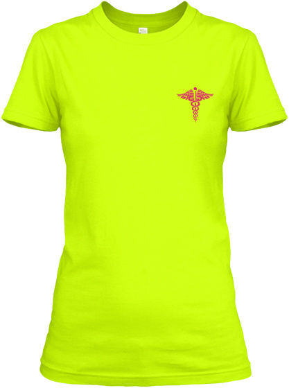 Awesome Lpn Shirt Safety Green T-Shirt Front