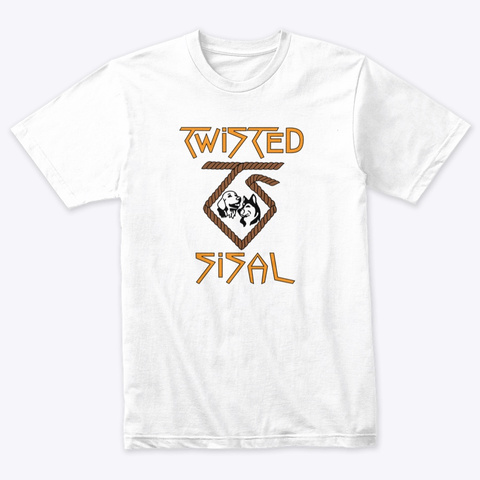 Twisted Sisal Merch Heather White T-Shirt Front
