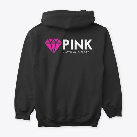 Pink K Pop Academy  Black T-Shirt Back