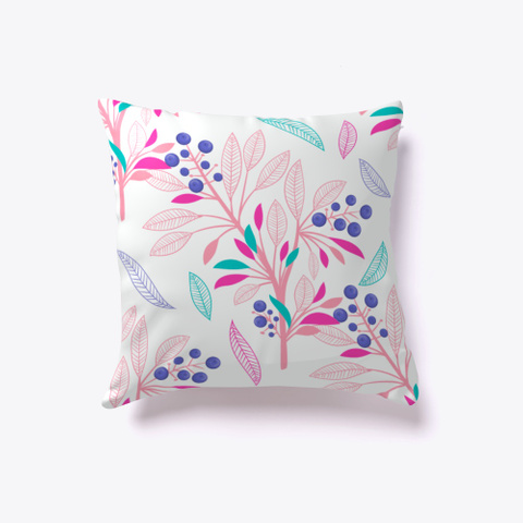 Minimal Awesome Floral Throw Pillow Standard T-Shirt Back