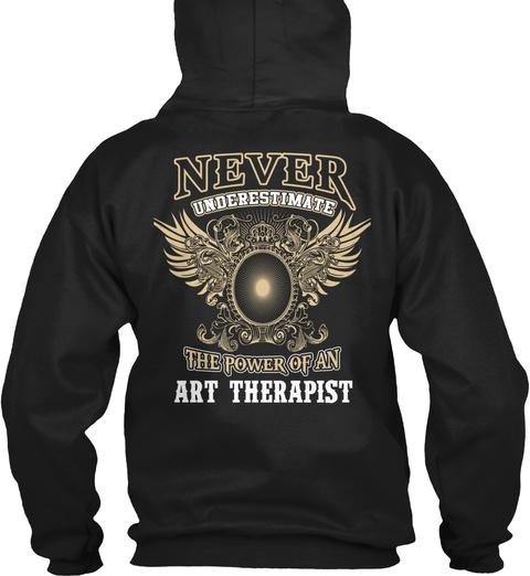 Art Therapist Black T-Shirt Back