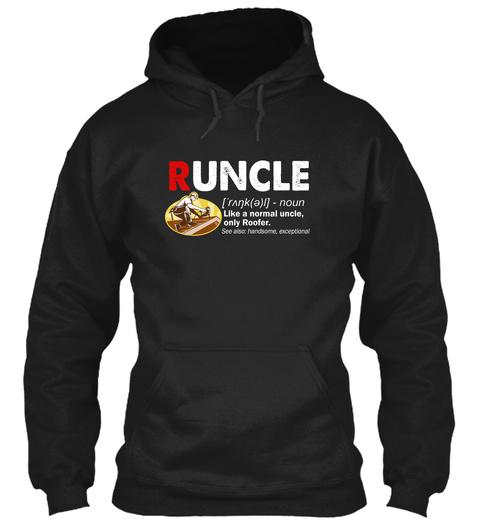 Runcle Roofer Black T-Shirt Front
