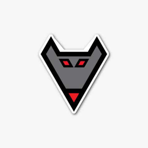 Red Eyed Wolf (Sticker) Standard T-Shirt Front