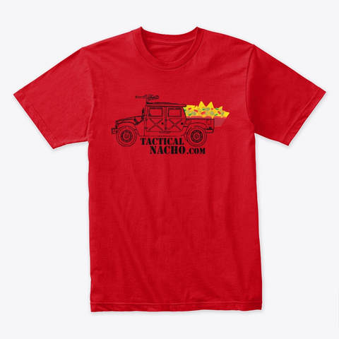 Nacho Truck Premium Tee *Recommended* Red T-Shirt Front