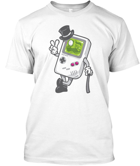 Old Gameboy White Camiseta Front