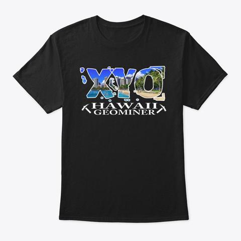 Xyo Hawaii Design Black T-Shirt Front