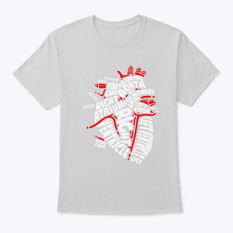 Heart Doctors Nurses Organs Medicine Poi Light Steel T-Shirt Front