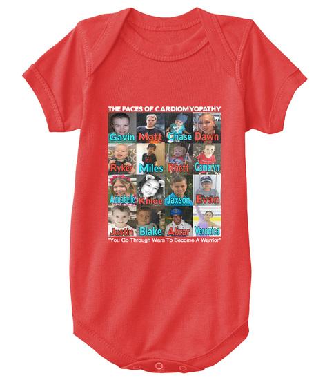 The Faces Of Cardiomyopathy Dawn Chase Matt Gavin Cameryn Rhett Ryker Miles Annabelle Jaxson Evan Khloe Veronica... Red T-Shirt Front