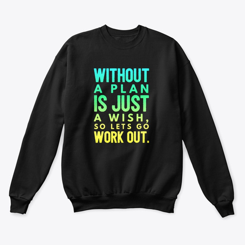 Work Out Yoga Sweater  Black T-Shirt Front