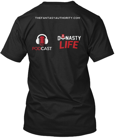 The Fantast Authority Com Podcast Dynasty Life Black T-Shirt Back
