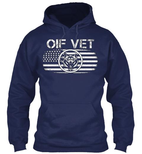 Oif Vet Navy T-Shirt Front
