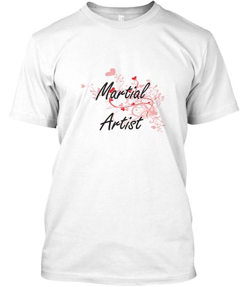 Martial Artist White T-Shirt Front