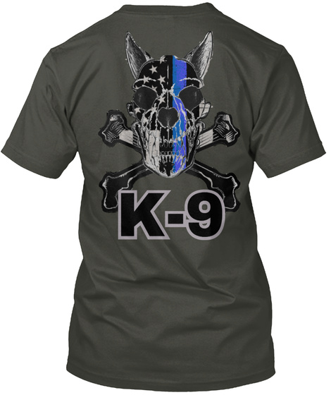 K 9 K 9 Smoke Gray T-Shirt Back