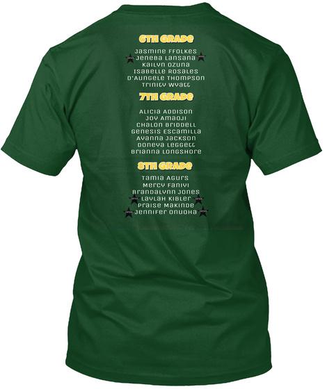 6th Grade 7th Grade 8th Grade Deep Forest T-Shirt Back