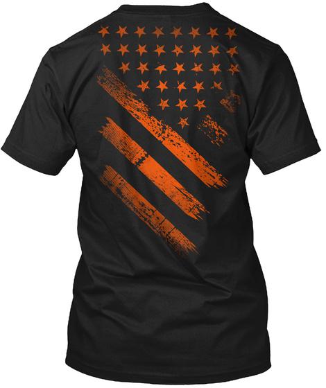 American Halloween Black T-Shirt Back