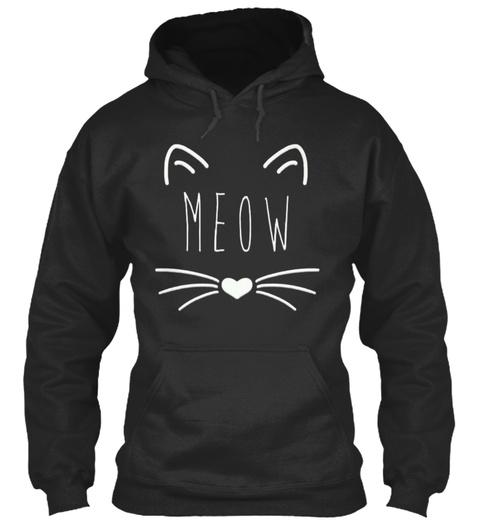 Meow Jet Black Sweatshirt Front