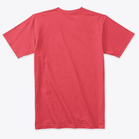 Galactic Camp Official Apparel  Vintage Red T-Shirt Back