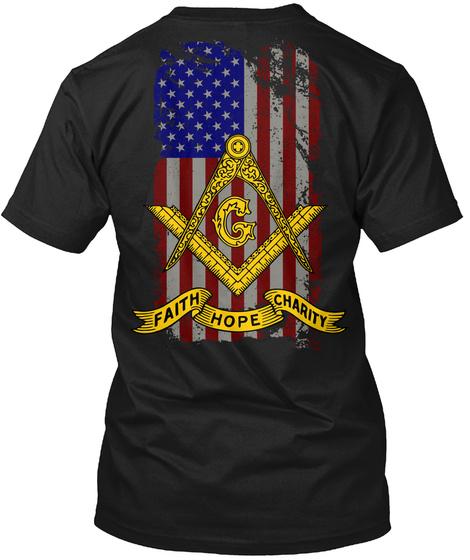 Faith Hope Charity Black T-Shirt Back